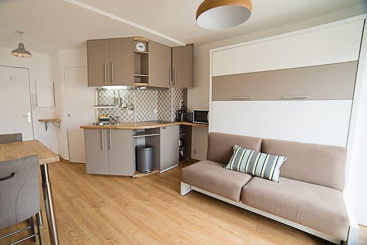 Studio centre avec balcon et parking privé - Toulouse