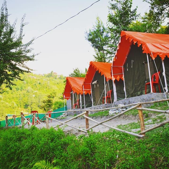 Mountain view camping , Jibhi
