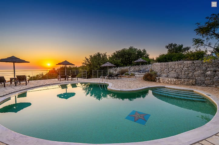 Aloni stone cottages, Levada shared pool- sea view