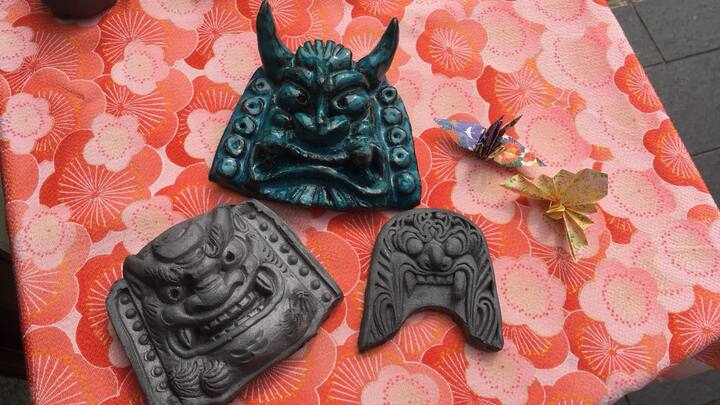 Oni tile is made from Japanese roof tile