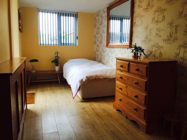 Room with en-suite close to town center & trains
