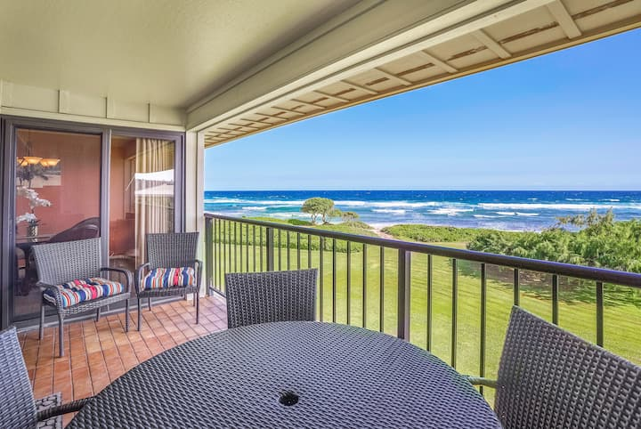 Relaxing Oceanfront Kauai Beach Villas Condo | 2 Bedroom | 2 Bathroom