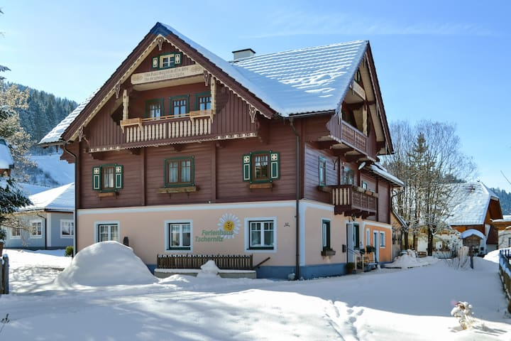 House with 5 bedrooms in Pruggern, with wonderful mountain view, furnished garden and WiFi - 4 km from the slopes