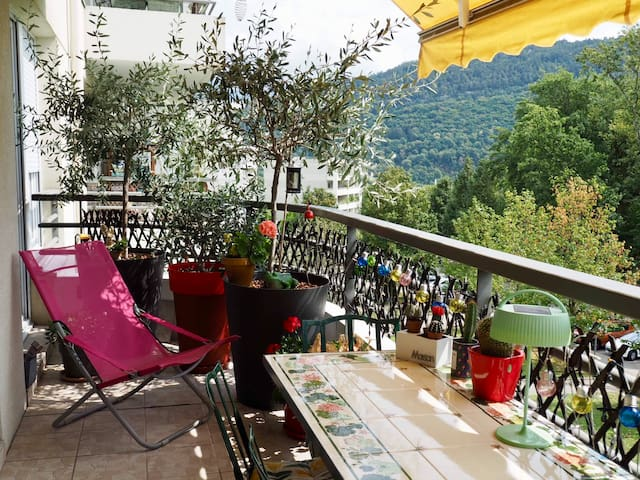 Annecy/Seynod, bright one-bedroom with a view