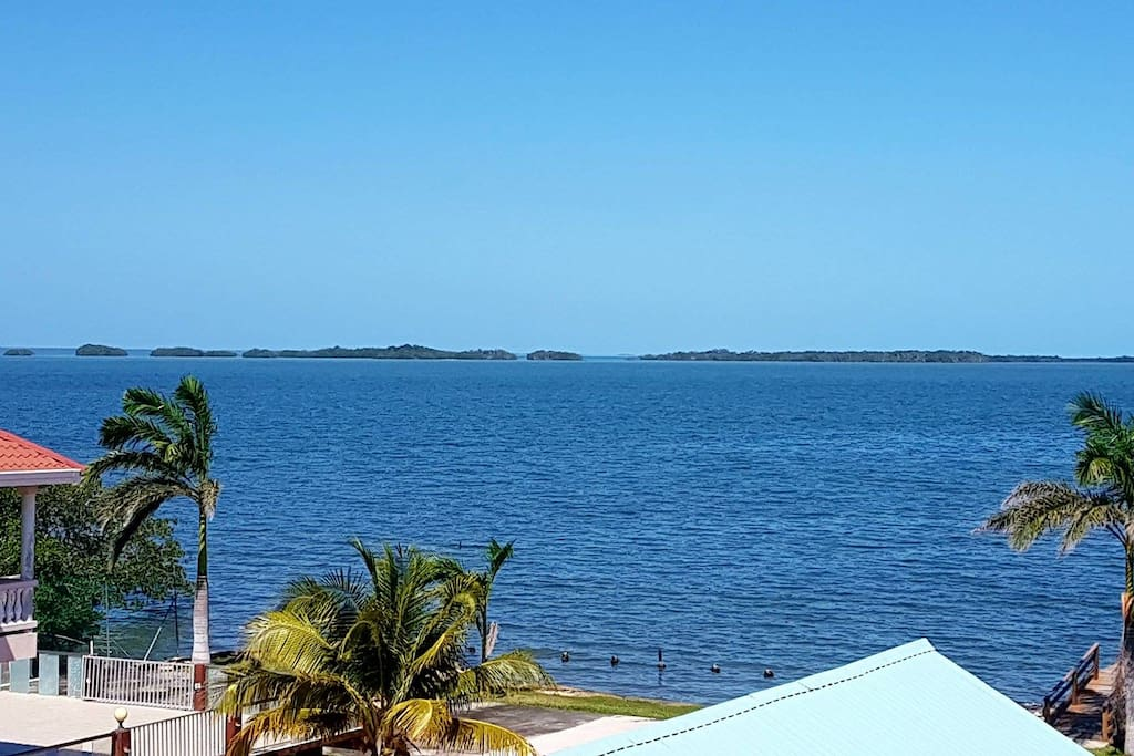 View of the Caribbean Sea from See Belize Panoramic Sea View 2-Bedroom Vacation Rental