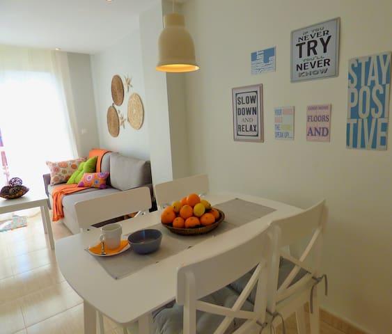 Un espacio para el Relax...comedor y salón en 1