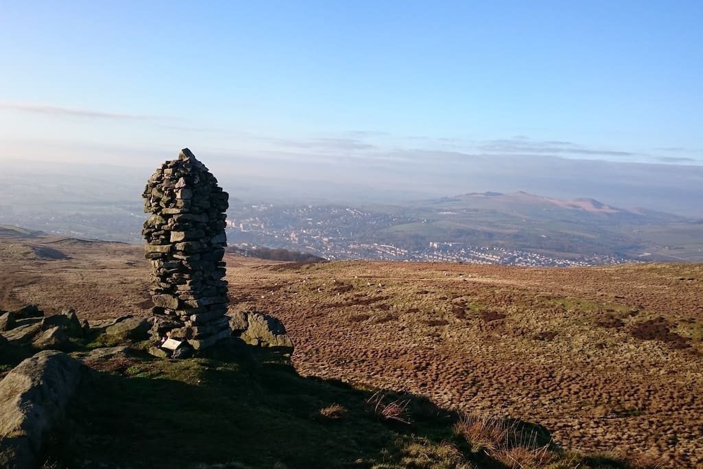 View from Skipton moor which can be reached in about 20 minutes from the house