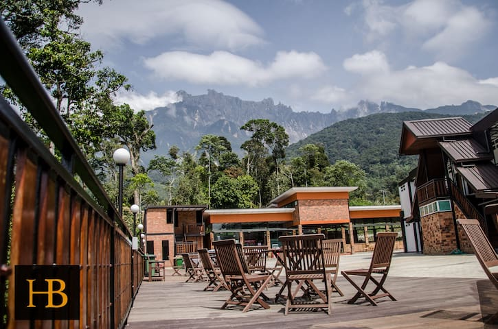 View of Mount Kinabalu from the Open Deck