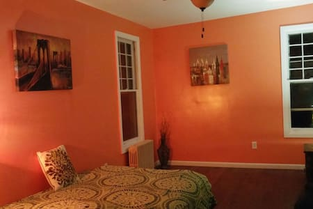 Cozy orange room