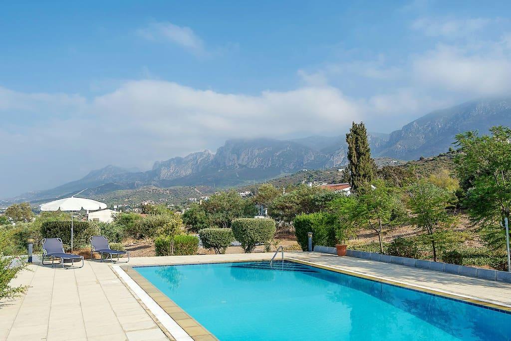 Swimming pool no.1 with mountain & sea veiws