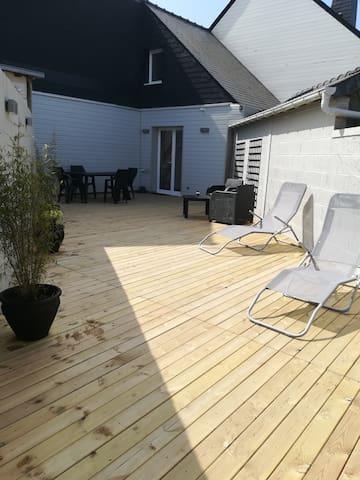 Belle terrasse de 70m2 privative
