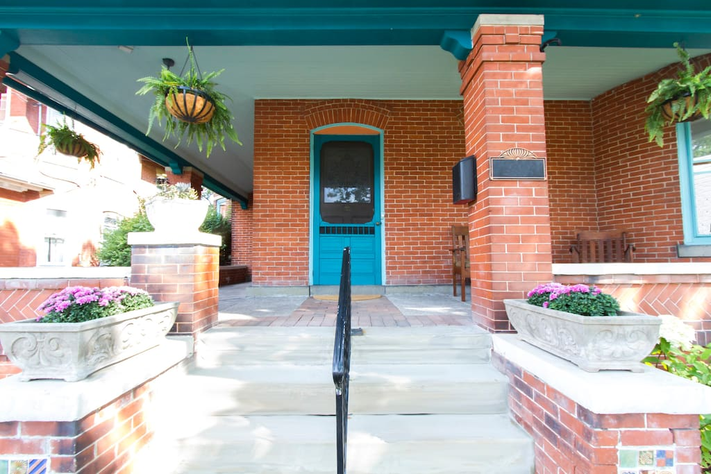 Our front porch and entrance.
