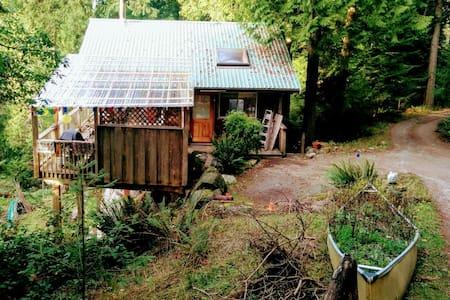 montague cabin  spring special - Galiano Island - Kisház