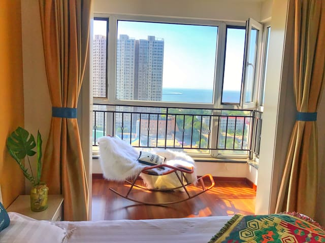 【海味·初心】金梦海湾 海景 新澳海底世界  80平露台  吹海风看日出度假公寓