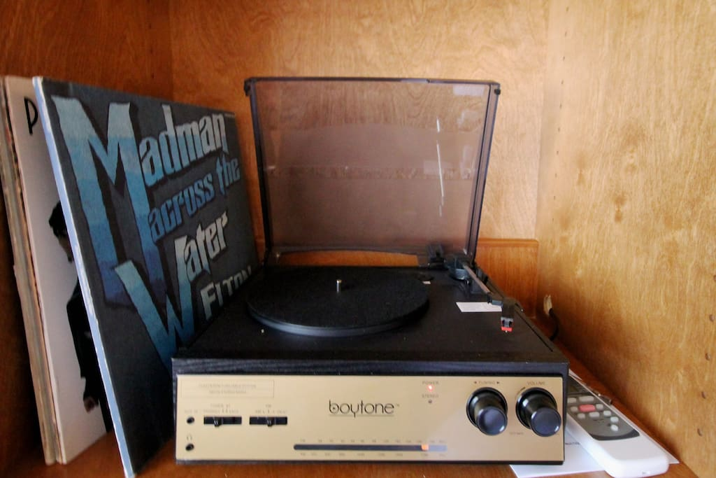 Play a record or your own tunes via bluetooth