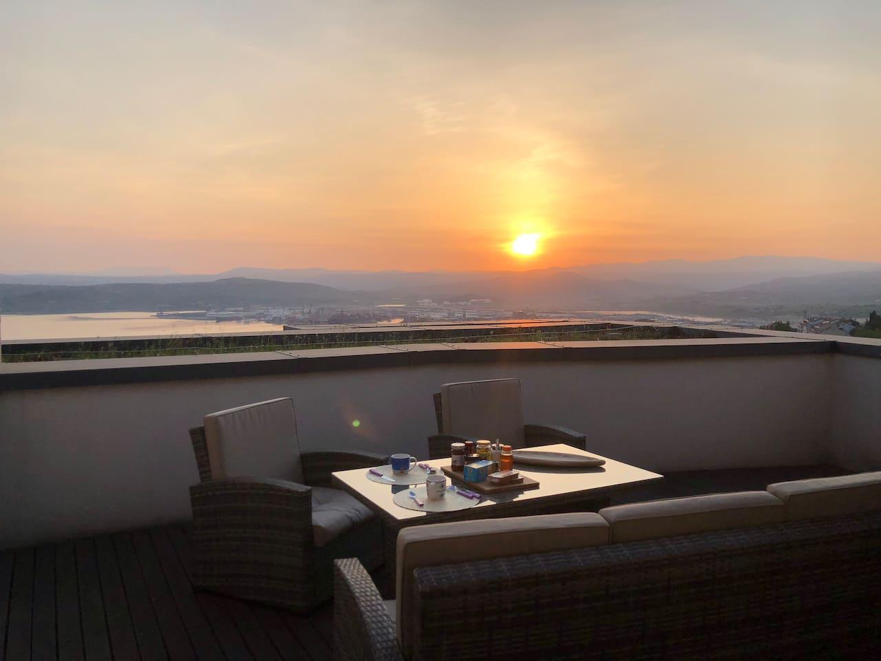 Breakfast at sunrise....