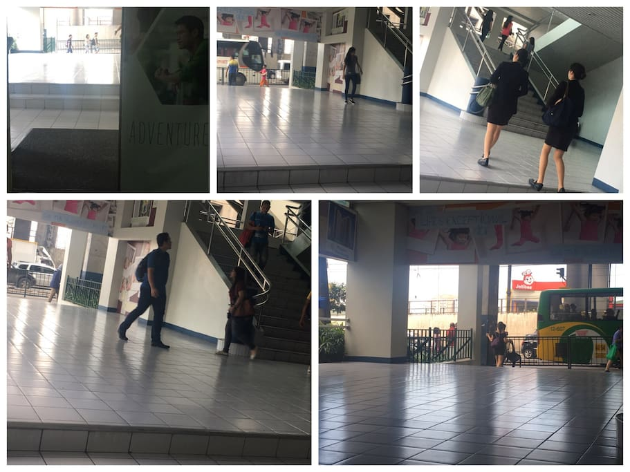 Way Out From The Building to Edsa And Mrt Station