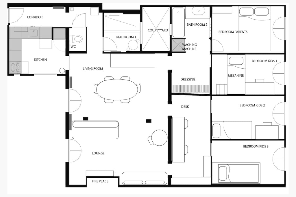 Plan of the appartement.