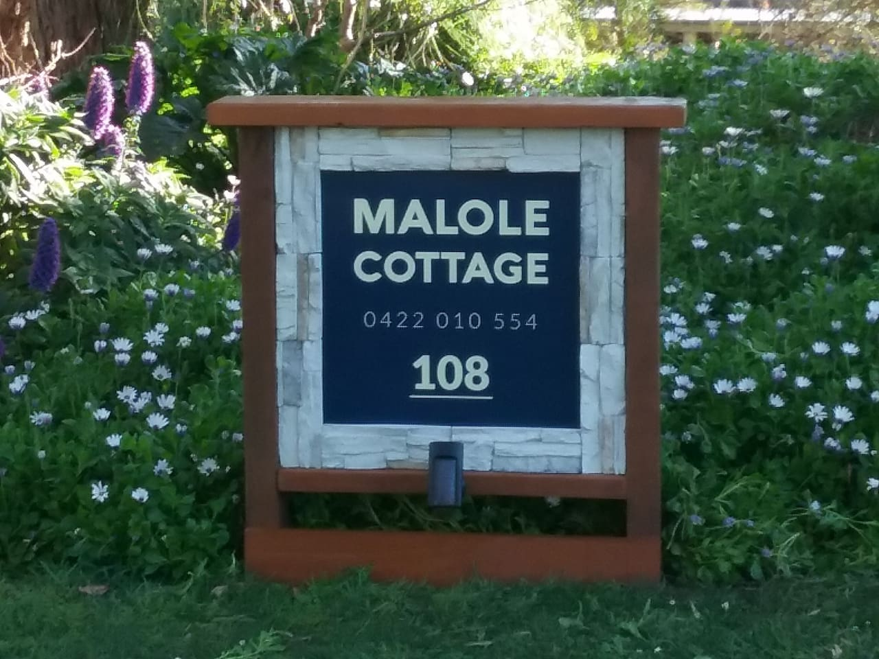 Easy way to found. Sign Malole cottage