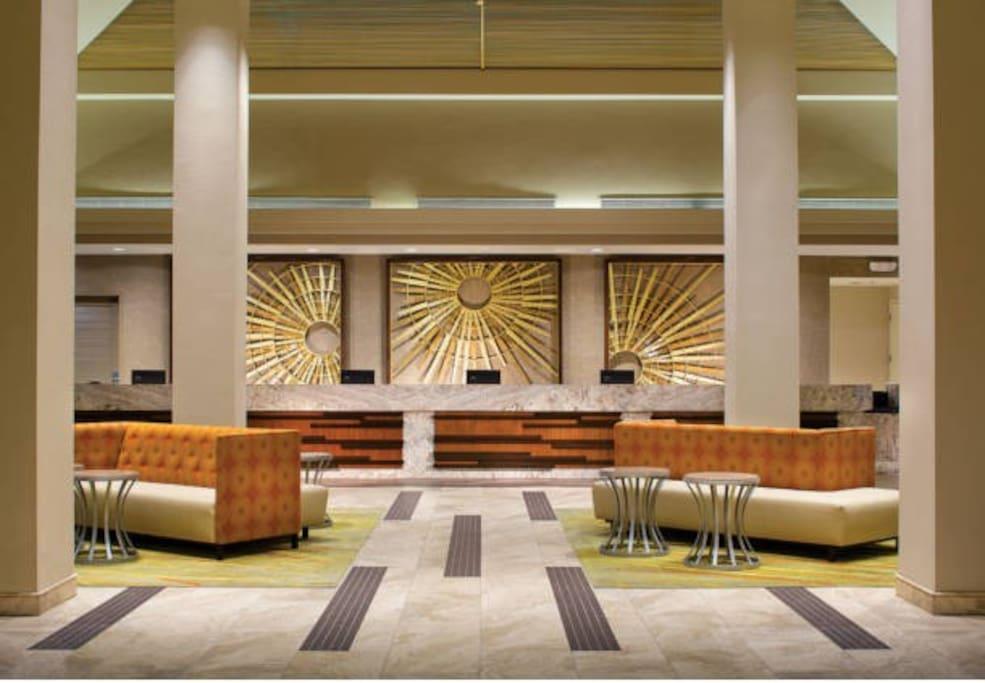 Chic Resort Lobby