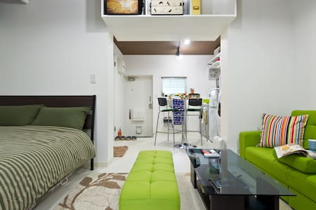 Green, quiet, clean & cozy, JR Meguro 5-min walk:) - Meguro-ku - Apartmen