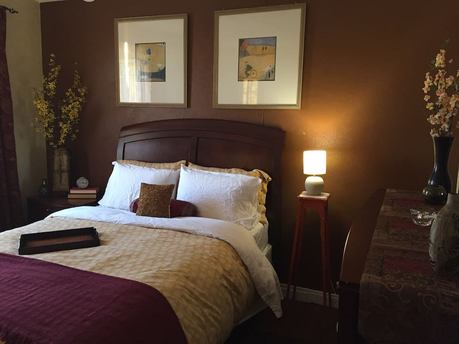 Bedroom 2: The Avo Room, offers an upgraded pillow top Queen Size Bed and large dresser