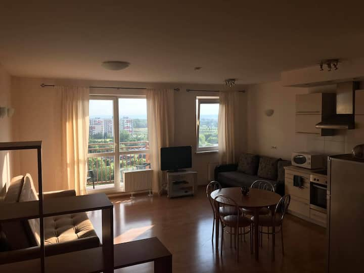 Fully furnished,clean flat with good view.Floor 11