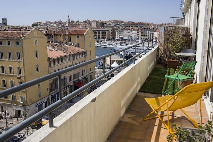 Appartement d'architecte avec terrasse -Vieux port