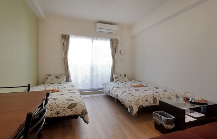 nrSTA Great 1bdrm apt with WiFi 1minTrain>Namba!