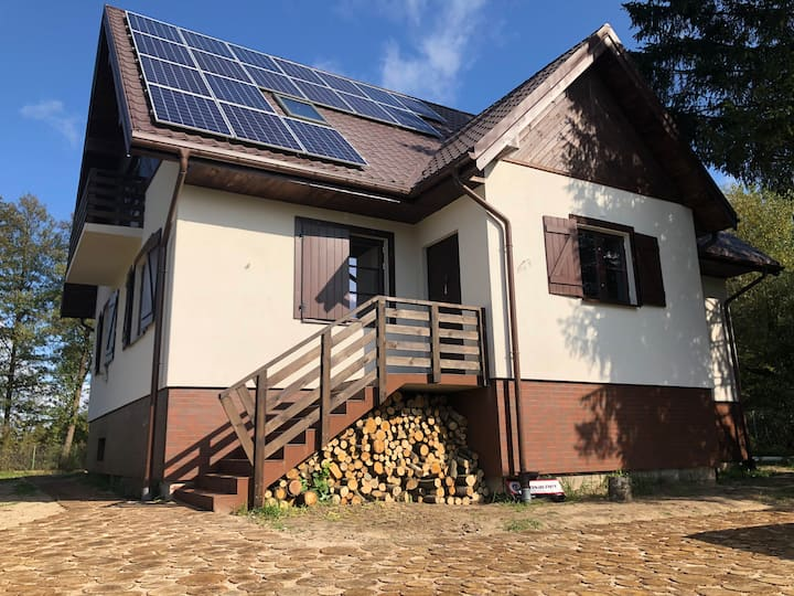 ECO house in a Nature Reserve 1h from Waw