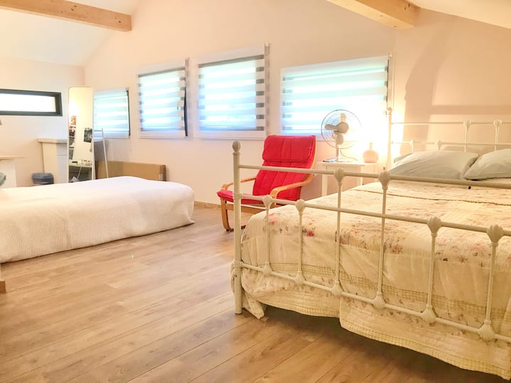 No frills: Our Spare Double Room Near Lake Annecy*