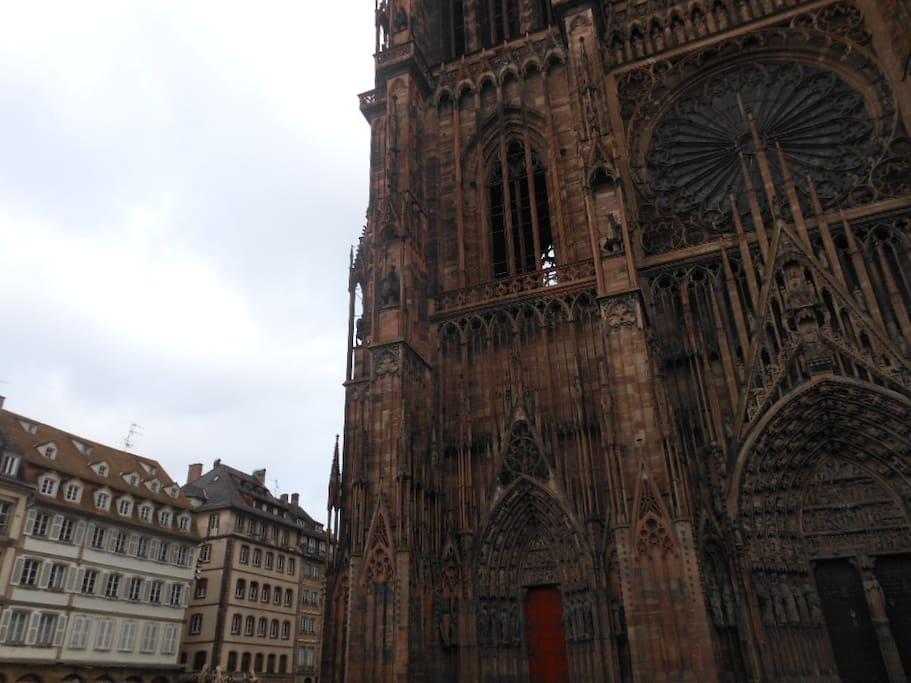 Vue de l'immeuble en bas à gauche (18ième s.)