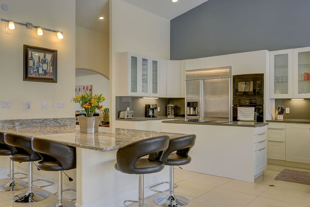 New modern kitchen with open space