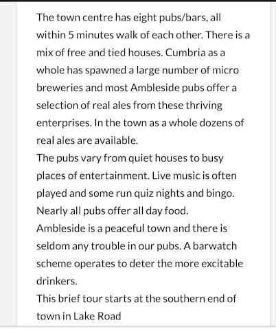Pubs in Ambleside, most of  which serve food. Also all are dog friendly