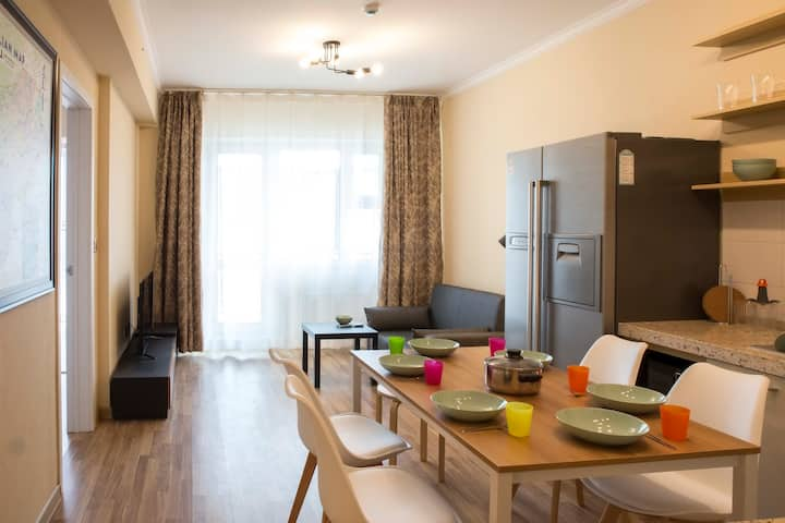 Only 500 m from UB Station. Close to city center.