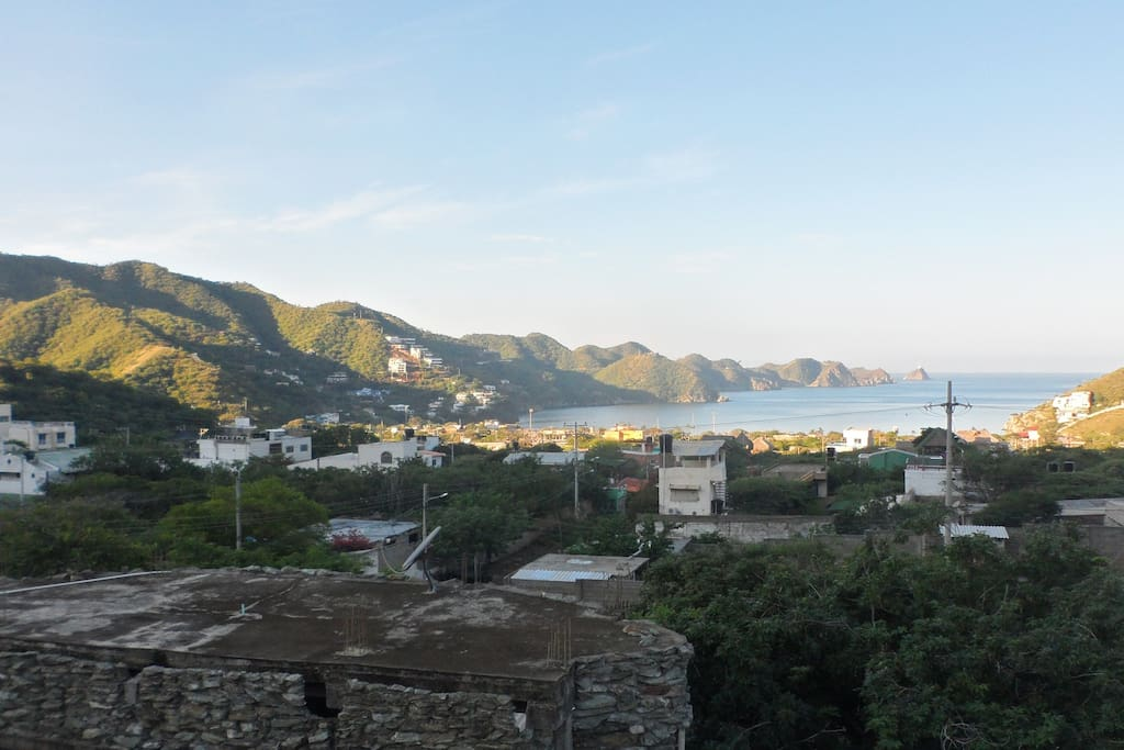 vue au matin sur Taganga