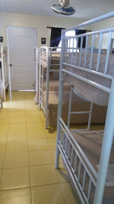 Bunk  beds in the hostel