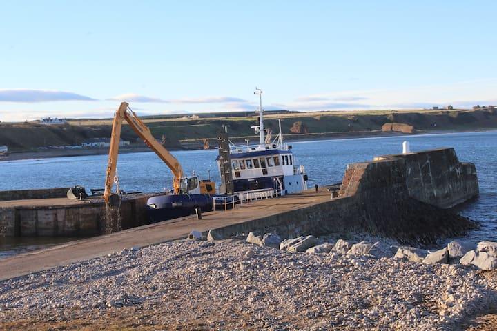 Dredging at Cullen Harbour.