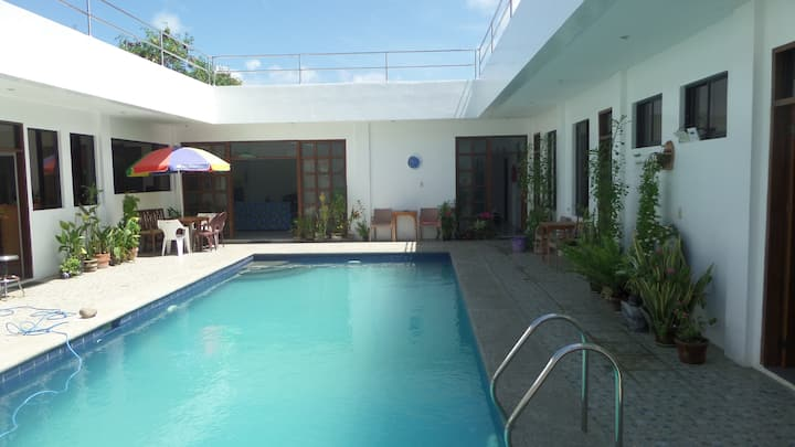 Very safe & peaceful - and a great pool
