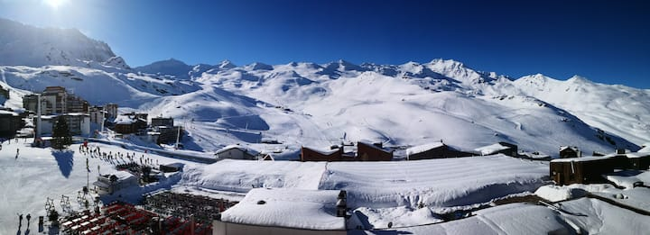 Val Thorens centre, Vue panoramique exceptionnelle