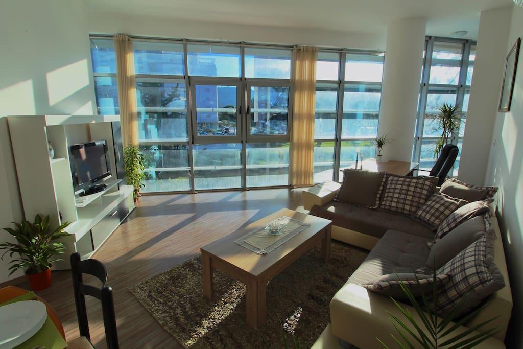 Living Room is sunlit, open, spacious, modern and has this huge glass facade that makes you feel like you are outside.