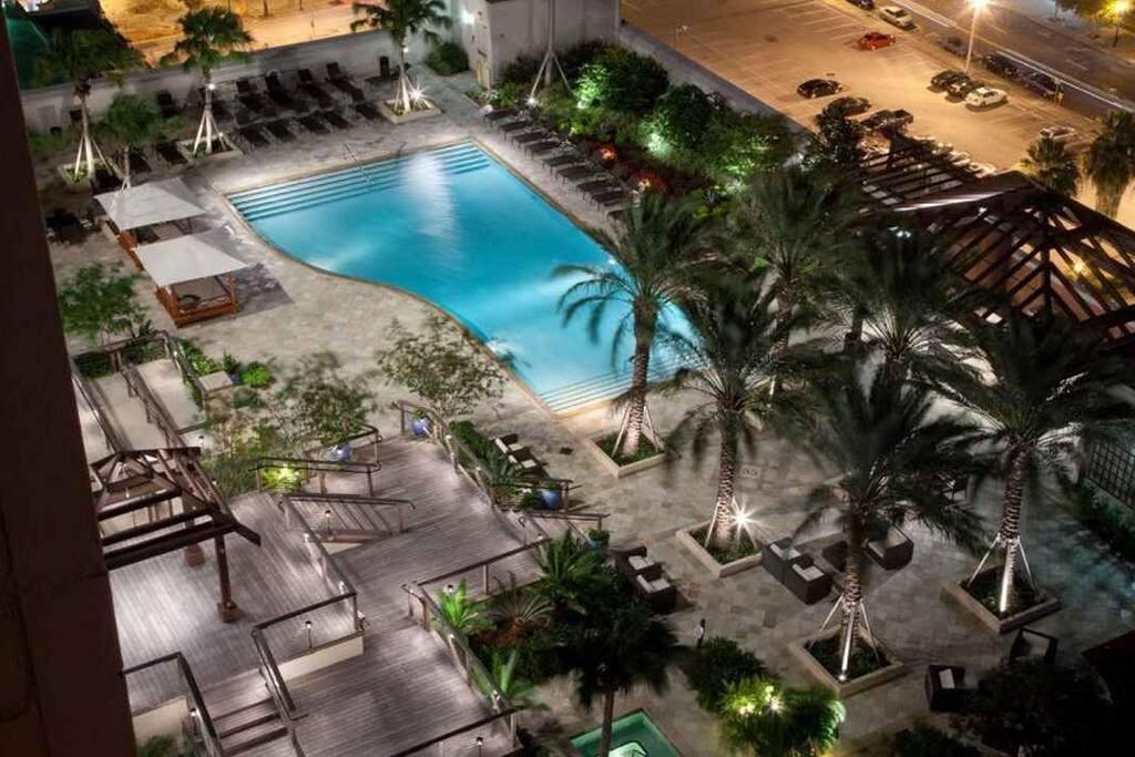 Pool Night Time View