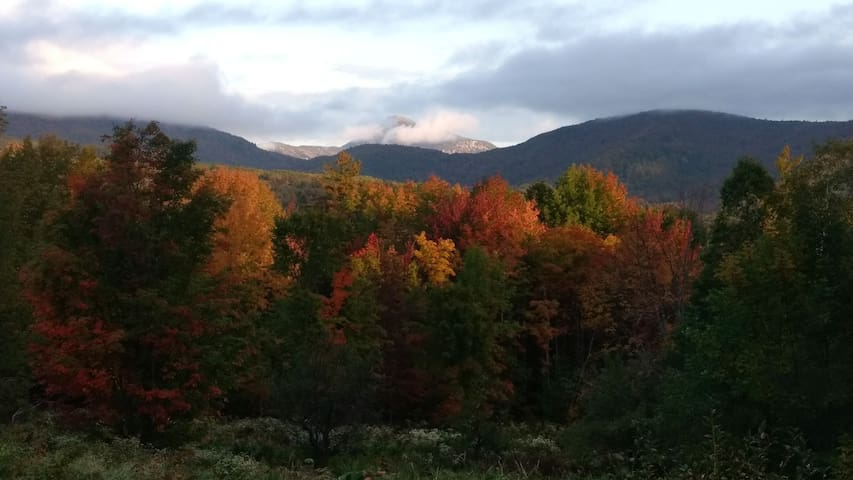 Camel's Hump from our back porch provides unbelievable fall foliage colors.