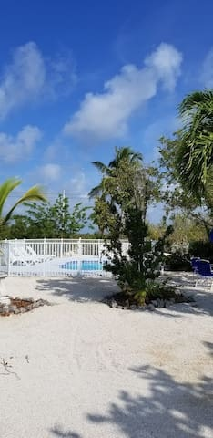 Spacious lot with beautiful landscape garden.