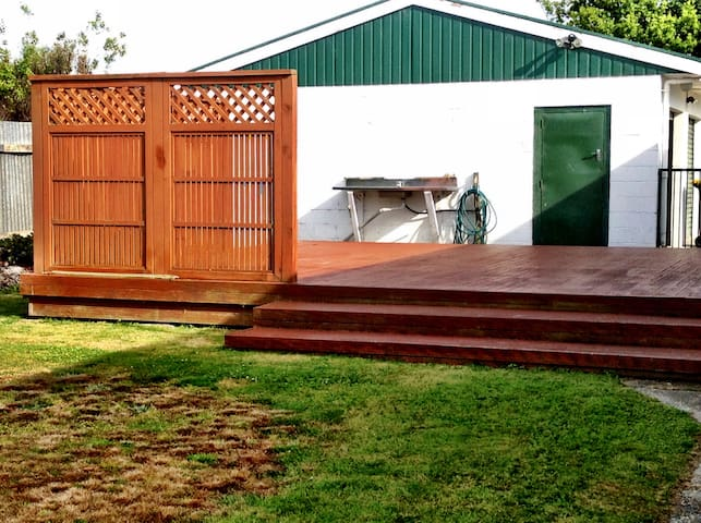Deck at back house
