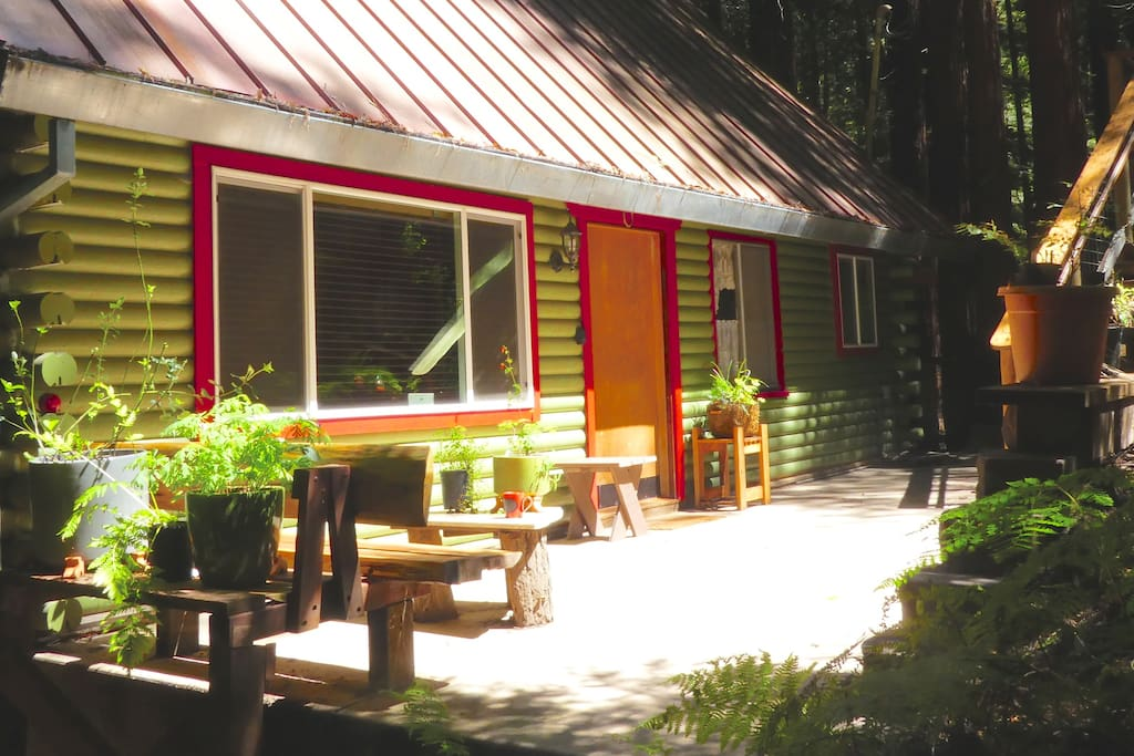 Our cheerful log cabin is waiting to welcome you!