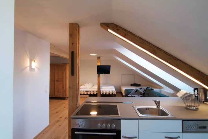 Modern loft apartment for up to 4 people