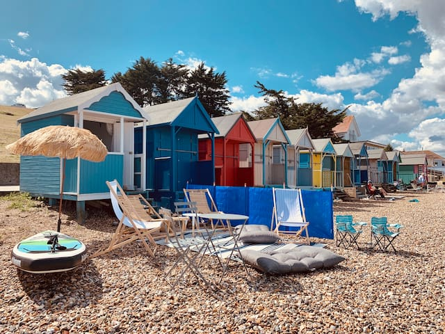 Quintessential English Blue Bay Beach Hut