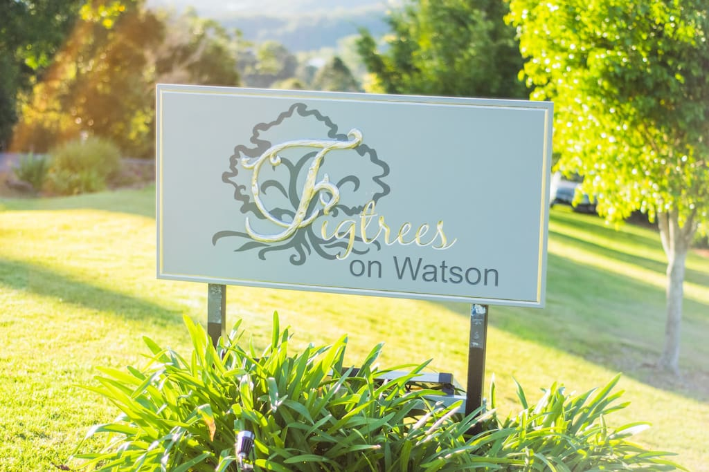 Look out for the Figtrees on Watson sign on the right of the road just before the driveway entrance.