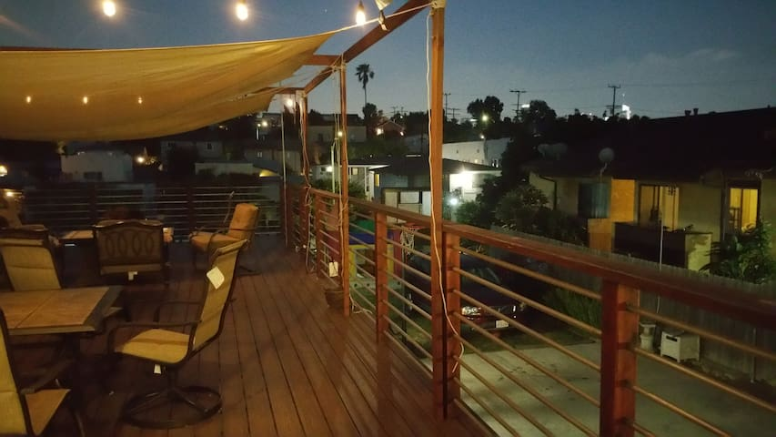 Topdeck at night